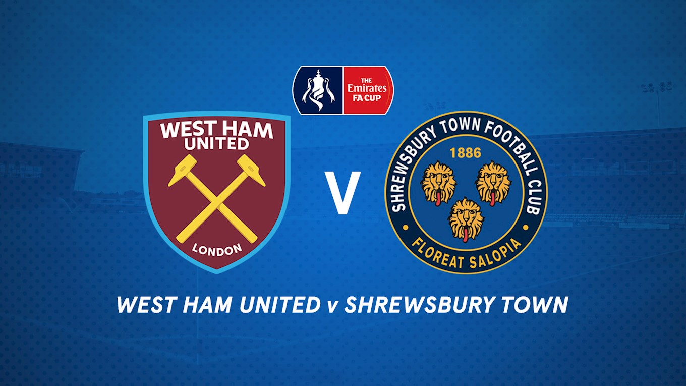 Image result for West Ham United vs Shrewsbury Town